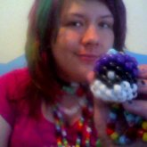 Purple Pokeball Necklace
