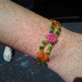 Daisy Beaded Bracelet