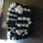 Random Black And White Cuff