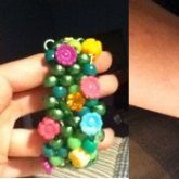 Tropical Flower Bracelet Cuff