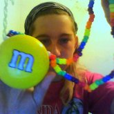 Yellow M&M Necklace