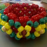 Rasta 3D W/ Wood Pointer Beads
