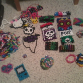 Packing For The Weekend/week :D Bringing Some Of My Kandi With Me To Wear :3