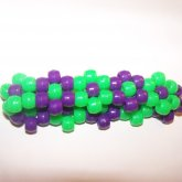Purple And Green Flower Cuff