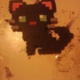 Fuse Bead Black Kitty :3