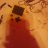 Yellow Fuse Bead Gameboy Necklace