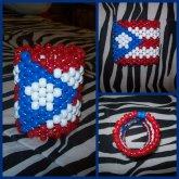 Puerto Rican Flag Kandi Cuff