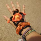 Halloween Kandi Glove