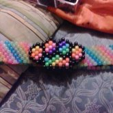 My Brass Knuckles Belt Buckle On My Kandi Belt Name Tag