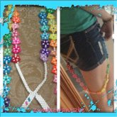Rainbow Star Suspenders