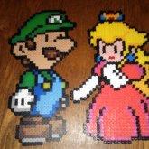 Luigi And Peach