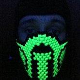Reptile Mask Blacklit