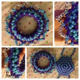 Purple and Blue 3D Cuff and Mask