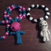 Voodoo Doll Necklace And Single