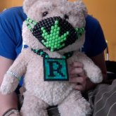 Mini Weed Mask And Mini Perler Necklace For My Ted Backpack!