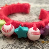 Baseball Star Kandi Bangle