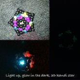 Light Up, Glow-in-the-dark, 3D Kandi Star