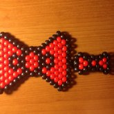 Large Hello Kitty Bow And Small Black And Red Hair Bow