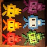 My Perler Bead Creations// Robots