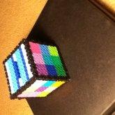 My Perler Cube Coin Box
