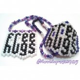 FREE HUGS Mask And Peyote Necklace