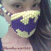 Batman Mask Purple & Yellow