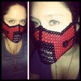 Red Ermac (Sub Zero) Mortal combat Kandi mask