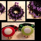 Purple Mario Mushroom Cuff <3