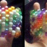 Rainbow Peace Sign Cuff <3