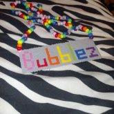Name Perler Necklace Bubblez
