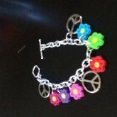 Perler Flower Charm Bracelet