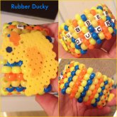 Duck Perler Cuff Collage