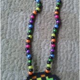 Rainbow Brass Knuckles Necklace