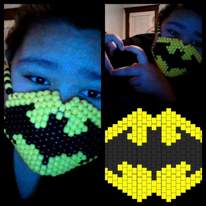 Batman Mask By Xxxhaleyheartsxxx Kandi Photos On Kandi Patterns