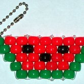 Kandi Watermelon Keychain