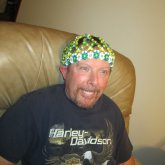My Dad Modeling My Beanie #2