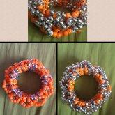 Orange-silver 3D Cuff