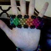 Rainbow Diamond Cuff; Lined With Black~