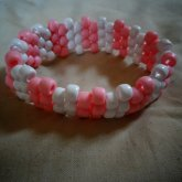 Pink And White Upper Arm Cuff