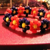 Red N Blue Flower Bracelet