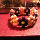 Pink N Purple Flower Bracelet