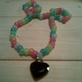 Glow In The Dark Heart Necklace