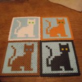 8-bit Kitty Coasters