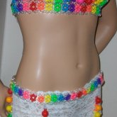 Gumball And Candy Bra With Garter Belt