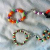 Kandi Soda Tab Hand Bracelet / Bracelet Ring