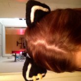 Cat Ears With Gold Rings