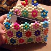 Flower Design Phone Pouch