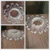 White And Clear 3D Cuff