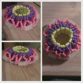 Yellow,Pink,Purple 3D Cuff