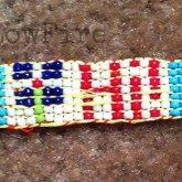 Beaded Hi! Rainbow Bracelet